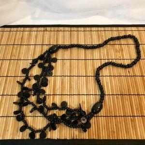 Jewelry - Black Wooden Bead Long Neclace
